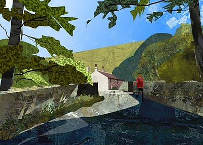 Bridge At Froggatt Art Print by Kenneth North