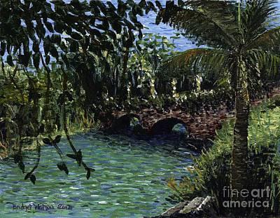 Pointillism Painting - Bridge At Good Hope by Bridget Watson