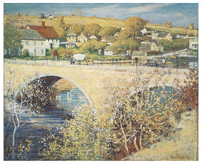 Fall Scenes Mixed Media - Bridge At Ispwich by Theodore Wendel