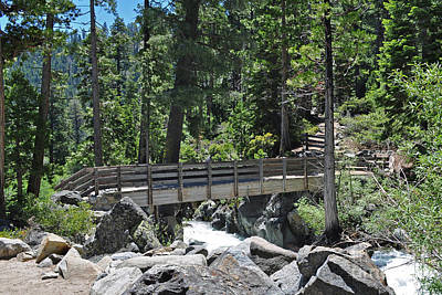 Photograph - Bridge At Lake Tahoe by Lula Adams