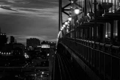 Philadelphia Photograph - Bridge At Night by Carlos Rivera