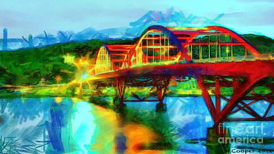 Bridge At Night Art Print by Max Cooper