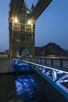 Bridge At Night Art Print by Svetlana Sewell
