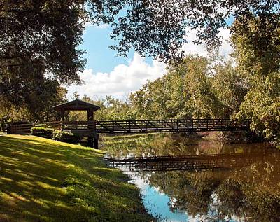 Bridge At Sawgrass Park Art Print