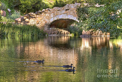 Art Print featuring the photograph Bridge At Stow Lake by Kate Brown