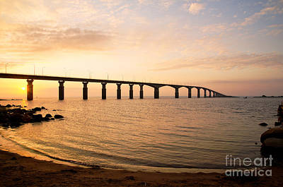 Bridge At Sunrise Art Print by Kennerth and Birgitta Kullman