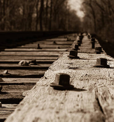 Train Tracks Photograph - Bridge Bolts Photo by Rick McKee