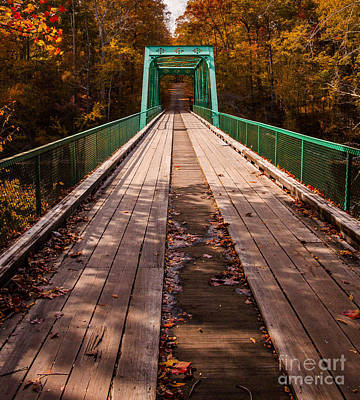 Photograph - Bridge To An Adventure In Autumn by Jerry Cowart