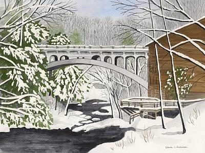 Bridge By The Mill - Mill Creek Park Art Print