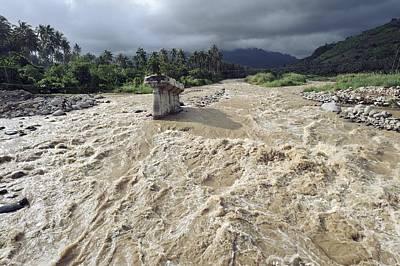 Bridge Destroyed By Flooding, Indonesia Art Print