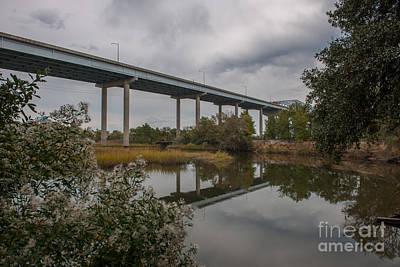 Photograph - Bridge Fishing by Dale Powell