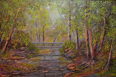 Bridge From The Past  Original by Michael Mrozik
