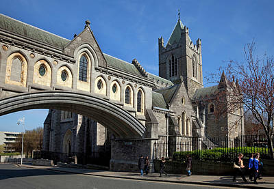 Old Christ Church Photograph - Bridge From The Synod Hall To Christ by Panoramic Images