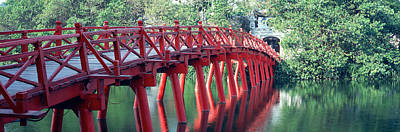 Handmade Photograph - Bridge, Hoan Kiem Lake, Hanoi, Vietnam by Panoramic Images