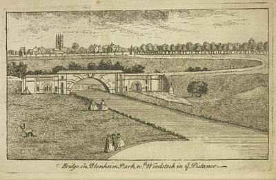 Palace Bridge Photograph - Bridge In Blenheim Palace Grounds by British Library