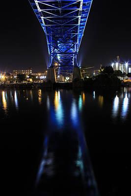 Downtown Cleveland Photograph - Bridge In Blue by J Allen