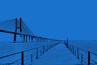 The Champagne Collection - Bridge In Blue by Jose Bispo
