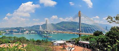 Photograph - Bridge In Hong Kong by Songquan Deng