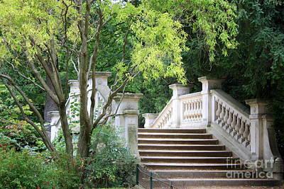 Photograph - Bridge In Monceau Park by Carol Groenen