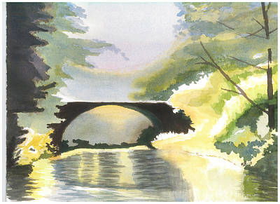 Bridge In Shadows Art Print