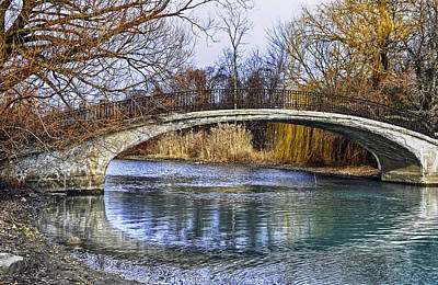 Bridge In The December Sun Art Print