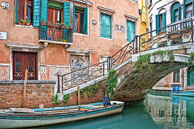 Canal Street Photograph - Bridge In Venice by Delphimages Photo Creations