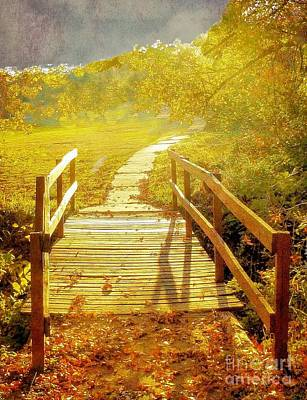Bridge Into Autumn Art Print