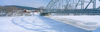 Bridge Into New Hampshire From Vermont Art Print by Panoramic Images