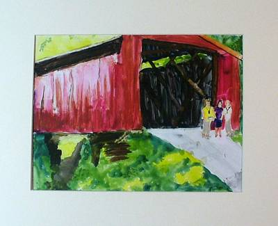 Bridge Art Print by Keith Thue