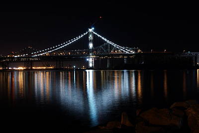 Photograph - Bridge Lights by Michael Courtney