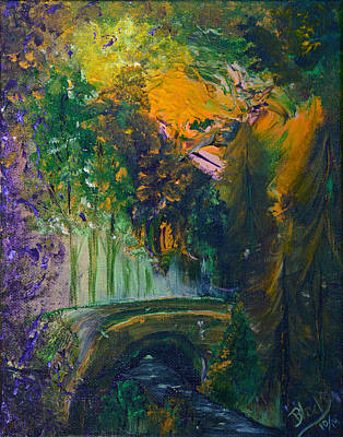 Painting - Bridge Long Forgotten by Donna Blackhall