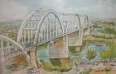 Mora Painting - Bridge Mora De Ebre by Molly Farr