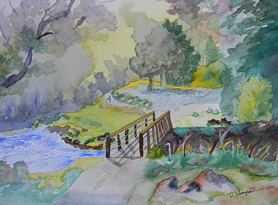 Bridge Near Enniskerry Ireland  Art Print by Warren Thompson