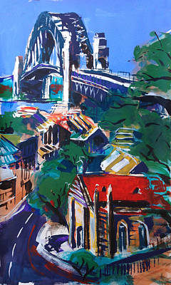 Sydney Harbour Bridge Painting - Bridge Observed by Shirley  Peters
