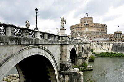 Photograph - Bridge Of Angels In Rome by Caroline Stella
