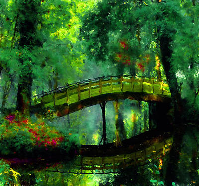 Impressionistic Landscape Painting - Bridge Of Dreams by Georgiana Romanovna
