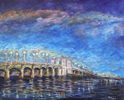 Bridge Of Lions Art Print by Mike McCaughin