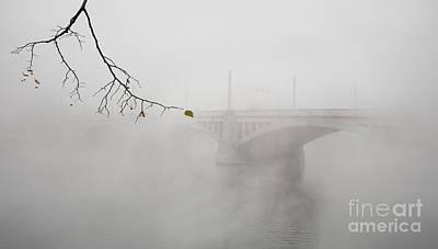 Bridge Of Prague In The Morning Fog Art Print