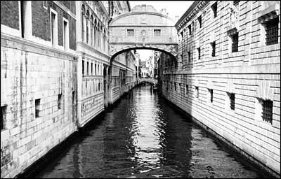 Bridge Of Sighs Bw Art Print