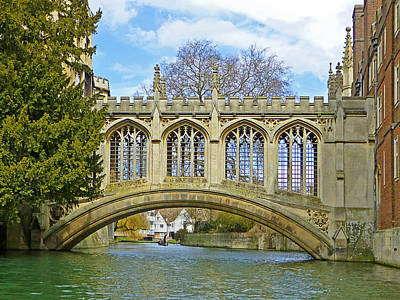 Photograph - Bridge Of Sighs Cambridge by Gill Billington