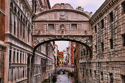 Photograph - Bridge Of Sighs In Venice by Brenda Kean