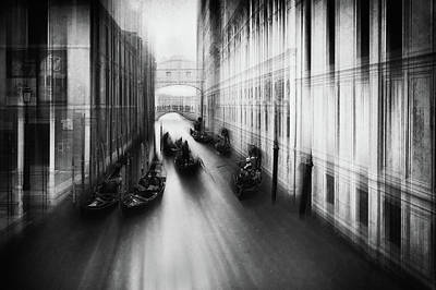 Paddling Photograph - Bridge Of Sighs by Roswitha Schleicher-schwarz