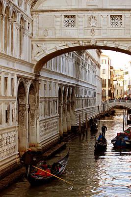 Bridge Of Sighs Venice Art Print by Cedric Darrigrand