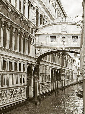 Venice Photograph - Bridge Of Sighs  Venice Italy by Liz Leyden