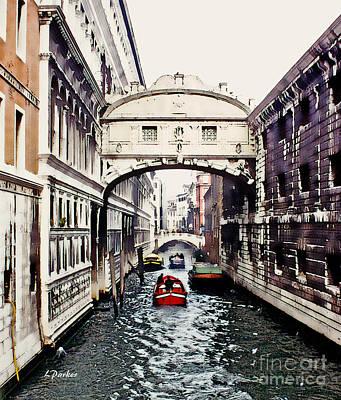 Bridge Of Sighs-- Venice Print by Linda  Parker