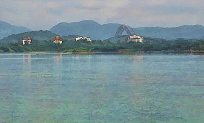 Photograph - Bridge Of The Americas From Casco Viejo - Panama by Julia Springer