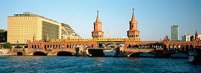Berlin Photograph - Bridge On A River, Oberbaum Brucke by Panoramic Images