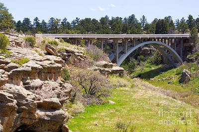 Steven Krull Royalty-Free and Rights-Managed Images - Bridge on Highway 83 by Steven Krull