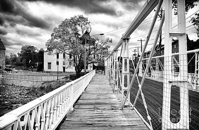 Bridge On Main Street Art Print by John Rizzuto