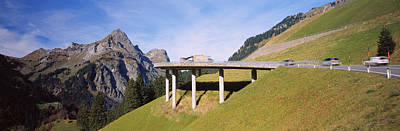 Bridge On Mountains, Mountain Pass Print by Panoramic Images